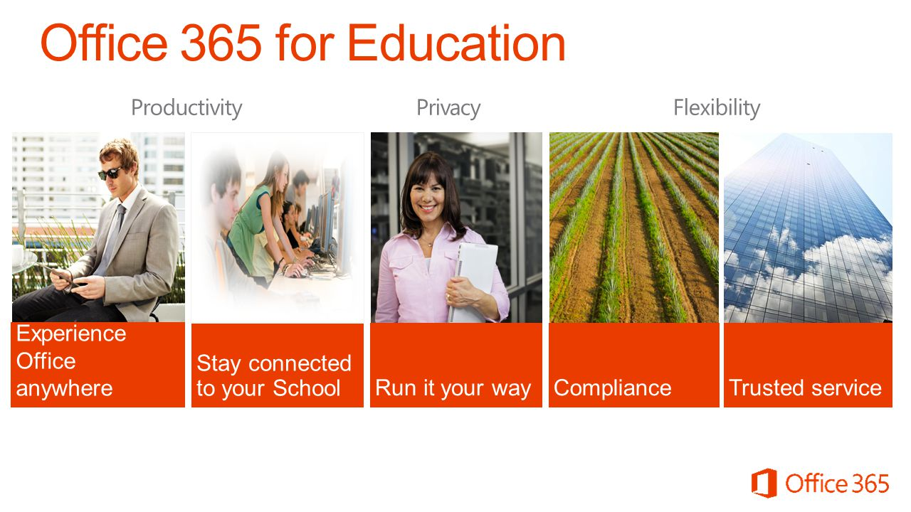 Office 365 for Education Productivity Privacy Flexibility