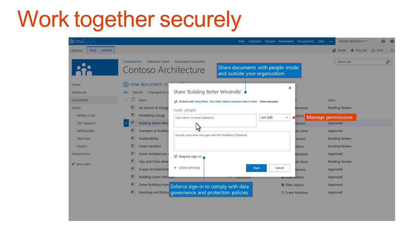 Work together securely