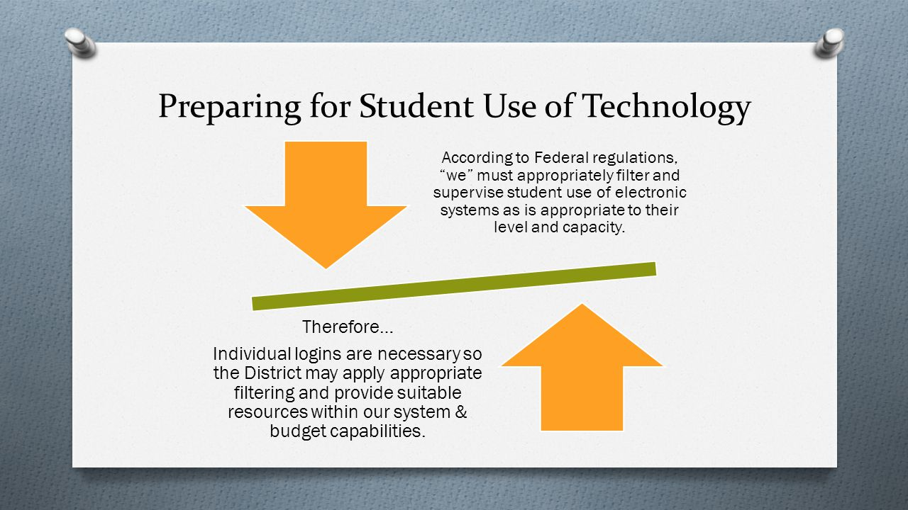 Preparing for Student Use of Technology