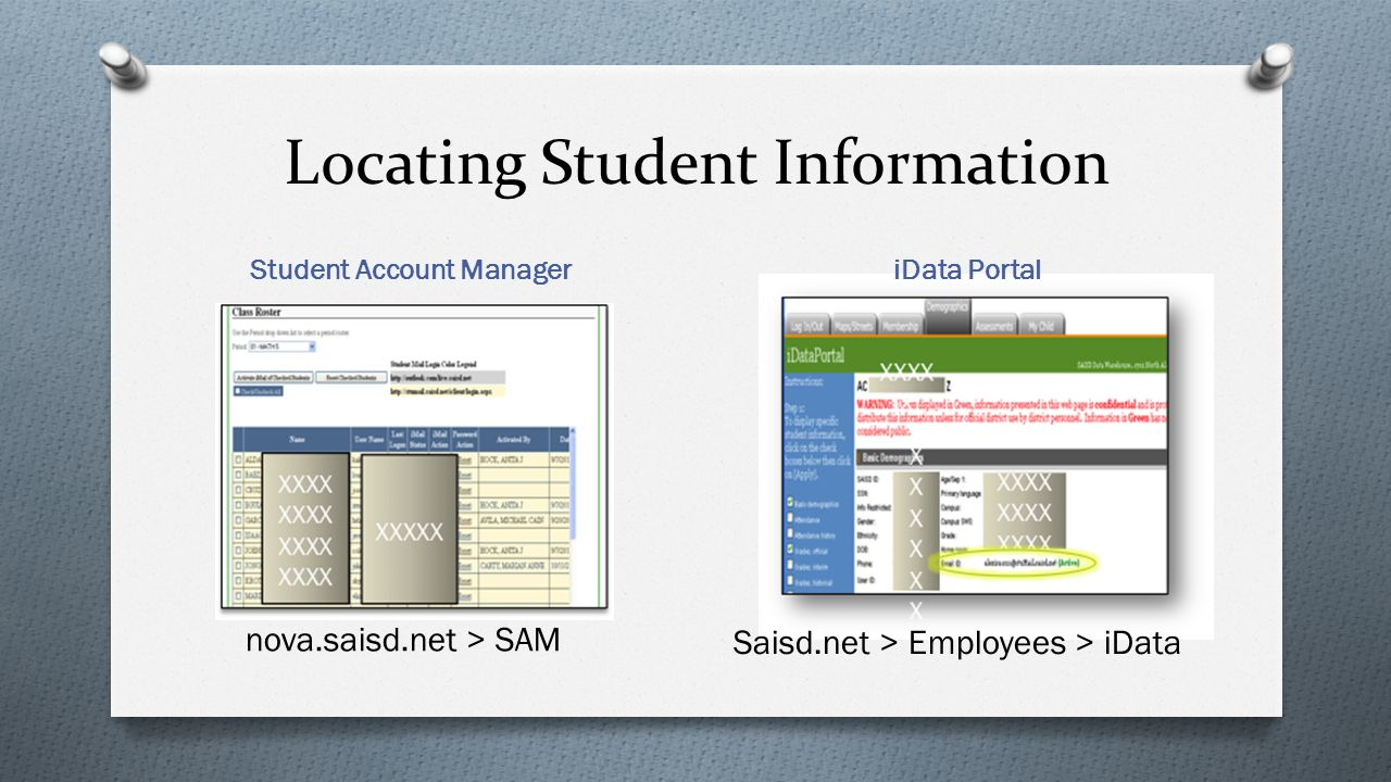 Locating Student Information