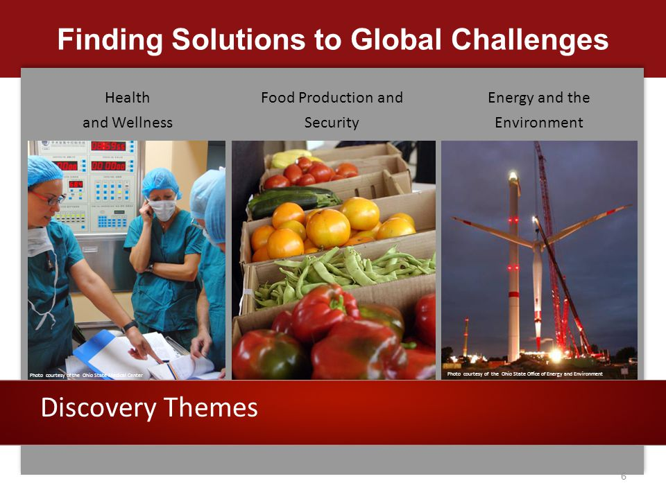 Finding Solutions to Global Challenges