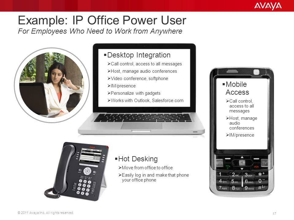 Example: IP Office Power User For Employees Who Need to Work from Anywhere