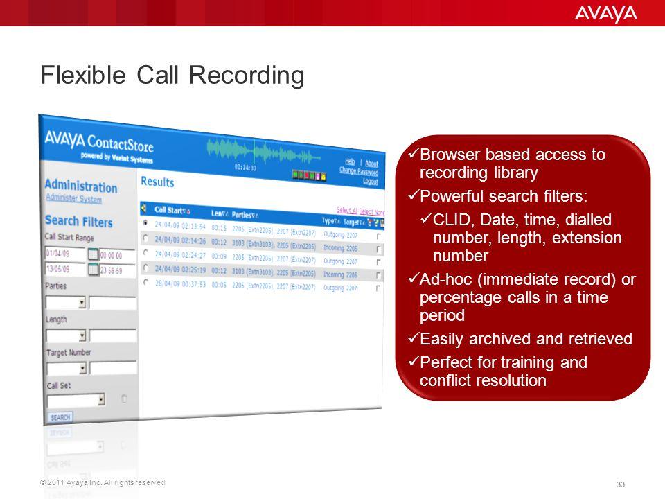 Flexible Call Recording