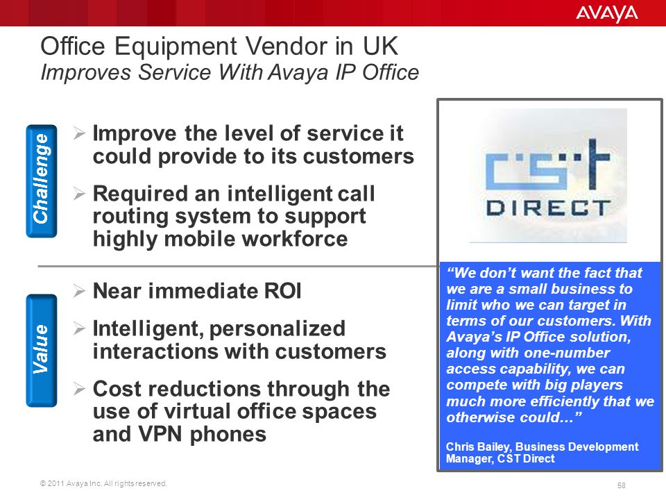 Office Equipment Vendor in UK Improves Service With Avaya IP Office