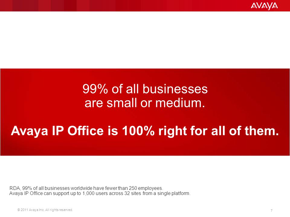 Avaya IP Office is 100% right for all of them.