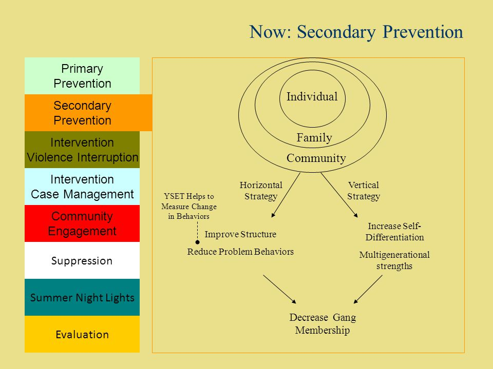 Now: Secondary Prevention