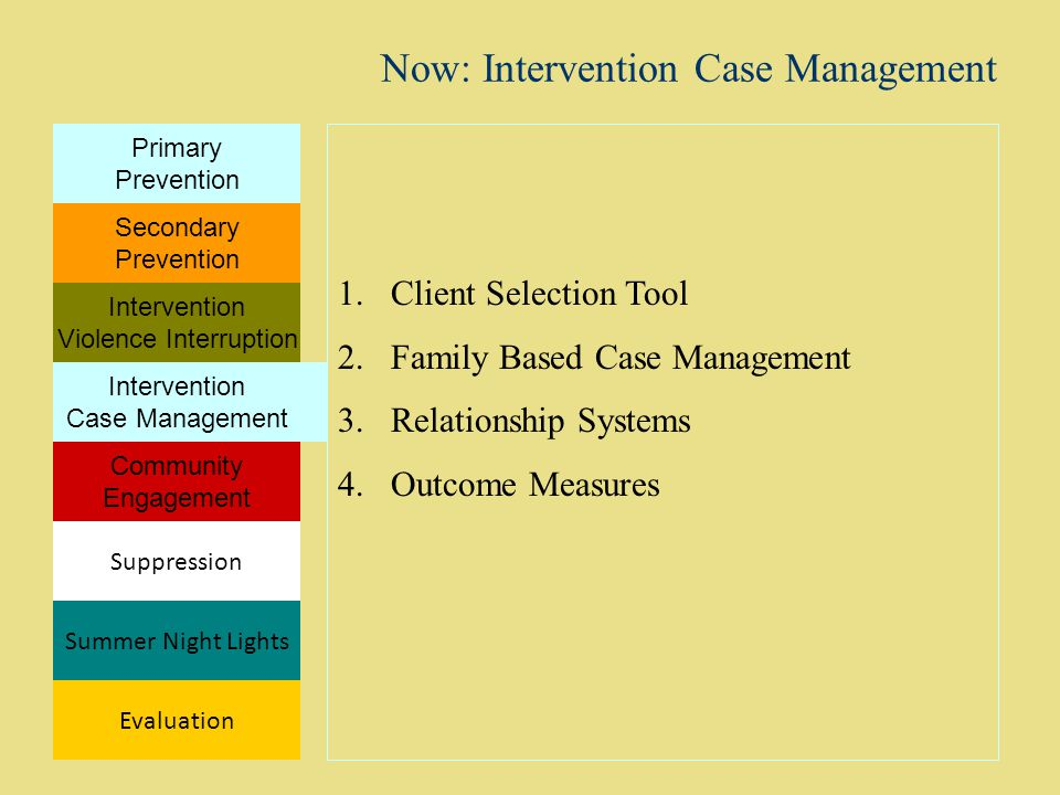 Now: Intervention Case Management
