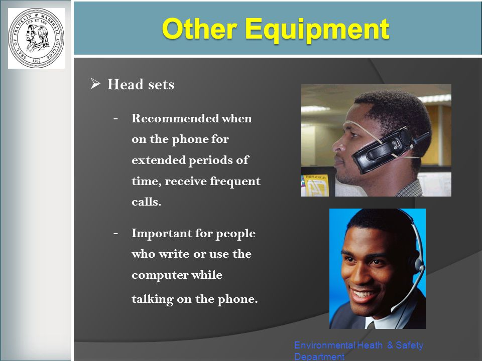 Other Equipment Head sets