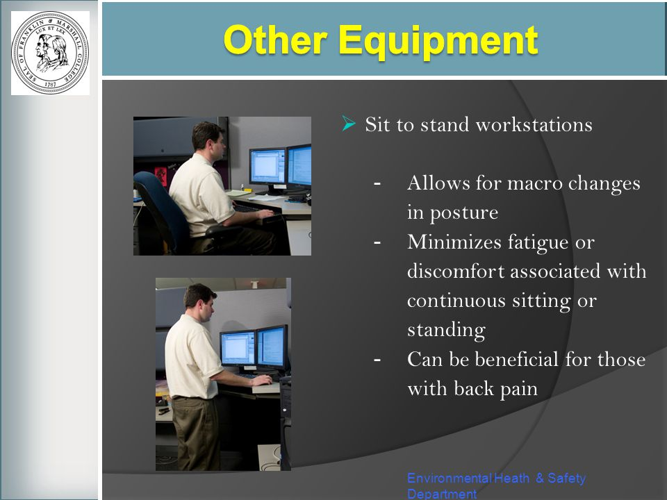 Other Equipment Sit to stand workstations