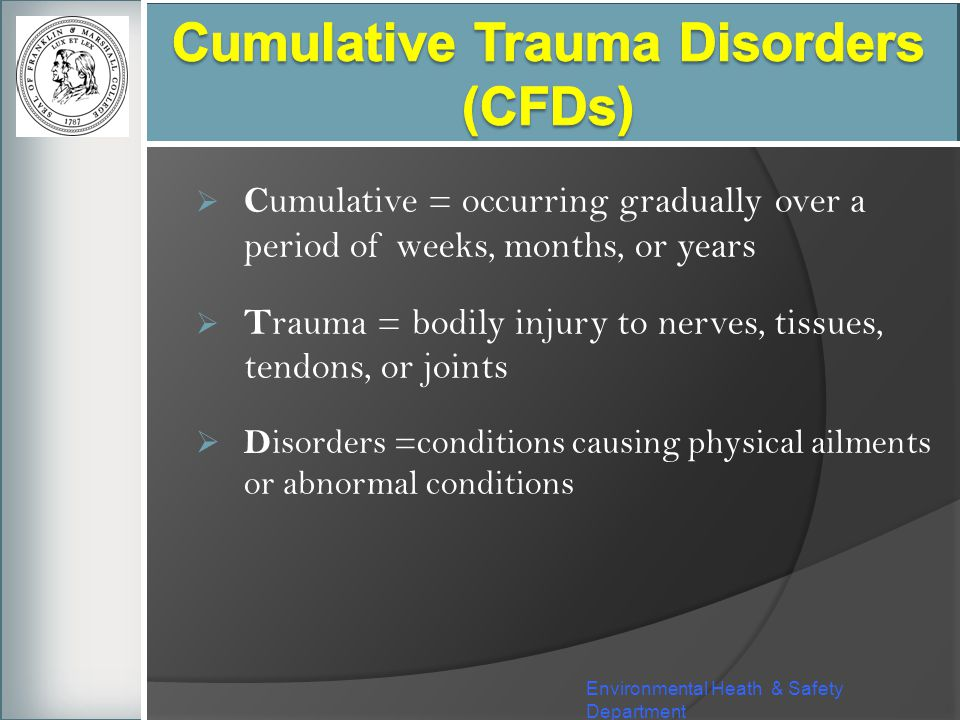 Cumulative Trauma Disorders (CFDs)