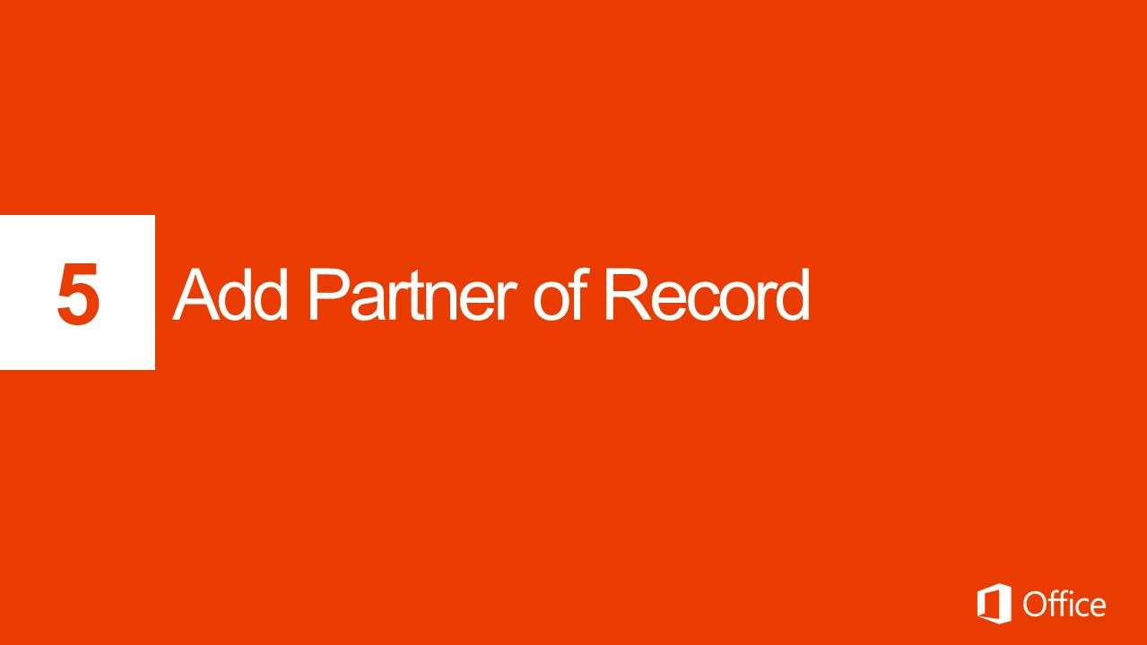 5 Add Partner of Record