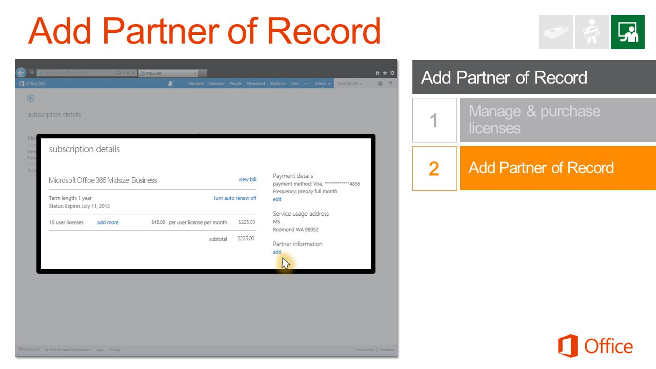 Add Partner of Record Add Partner of Record