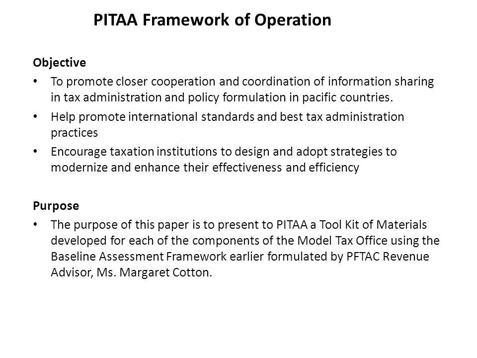 PITAA Framework of Operation