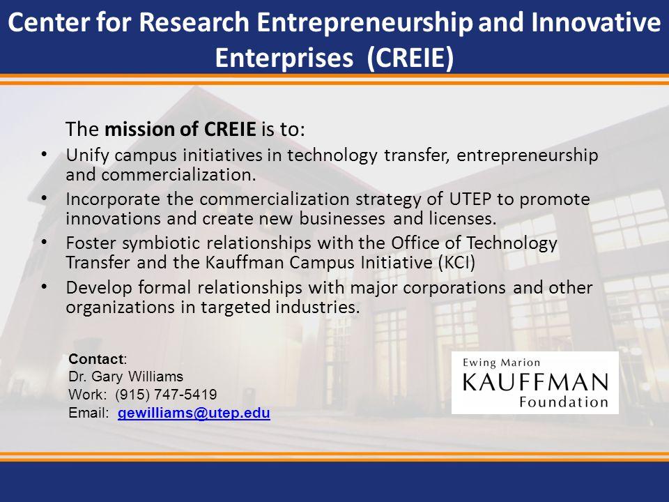 Center for Research Entrepreneurship and Innovative Enterprises (CREIE)