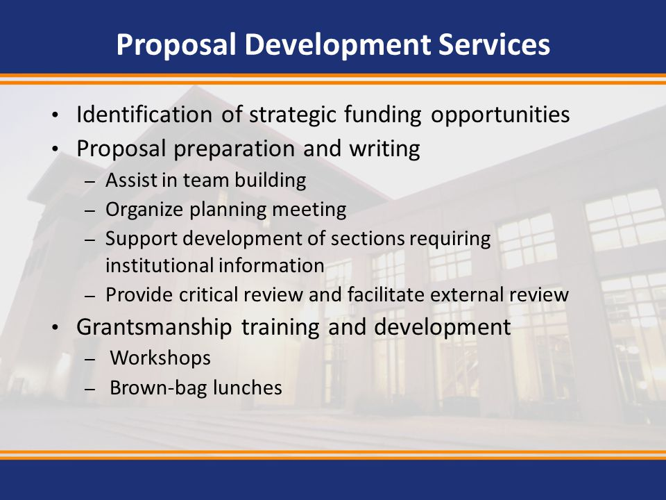 Proposal Development Services
