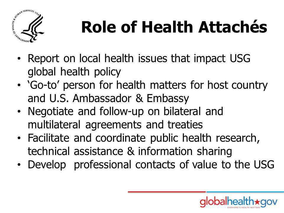Role of Health Attachés