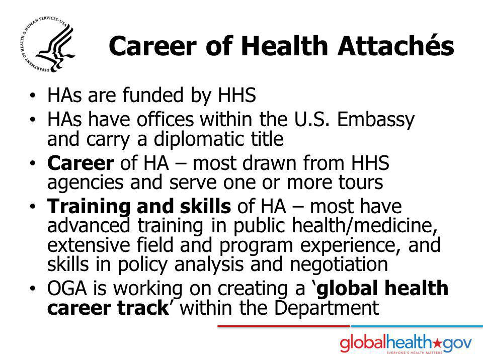 Career of Health Attachés