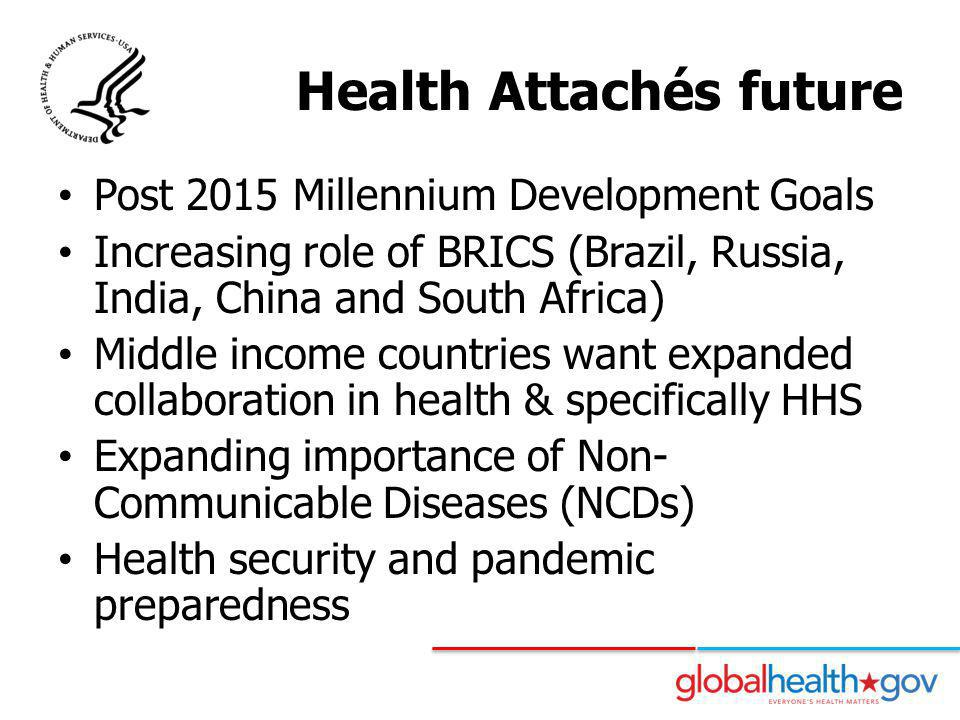 Health Attachés future