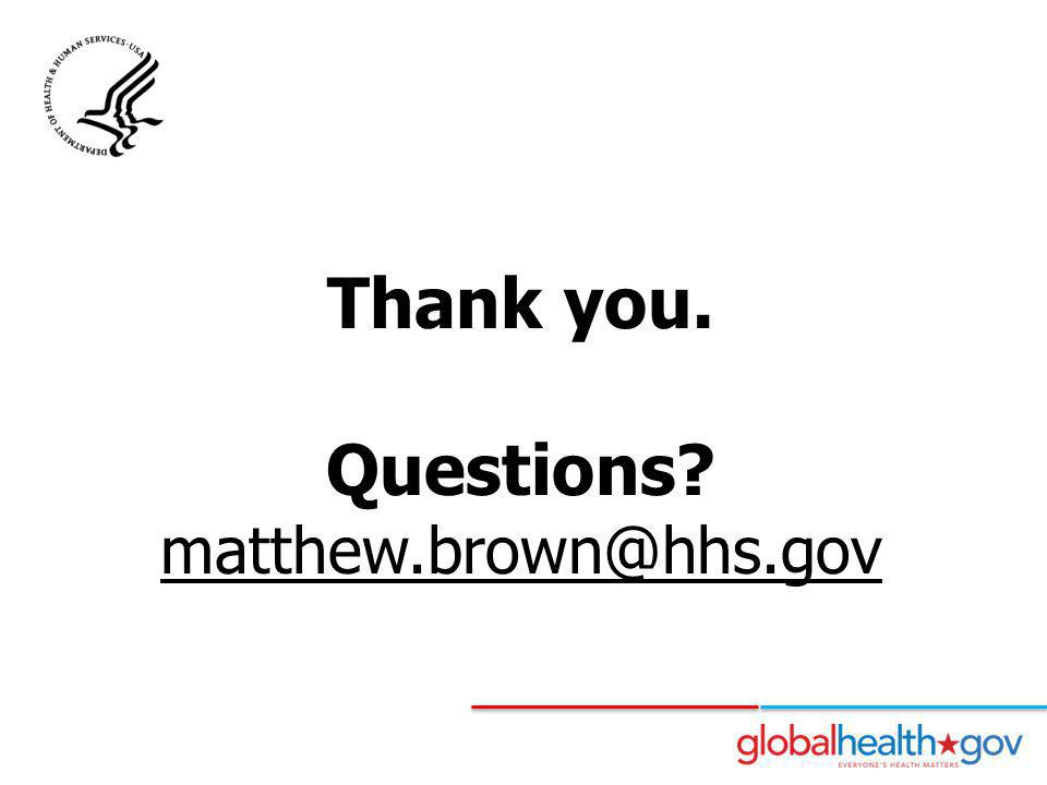 Questions matthew.brown@hhs.gov