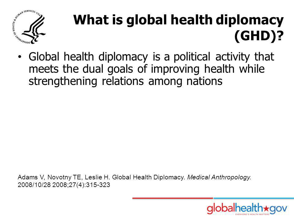 What is global health diplomacy (GHD)