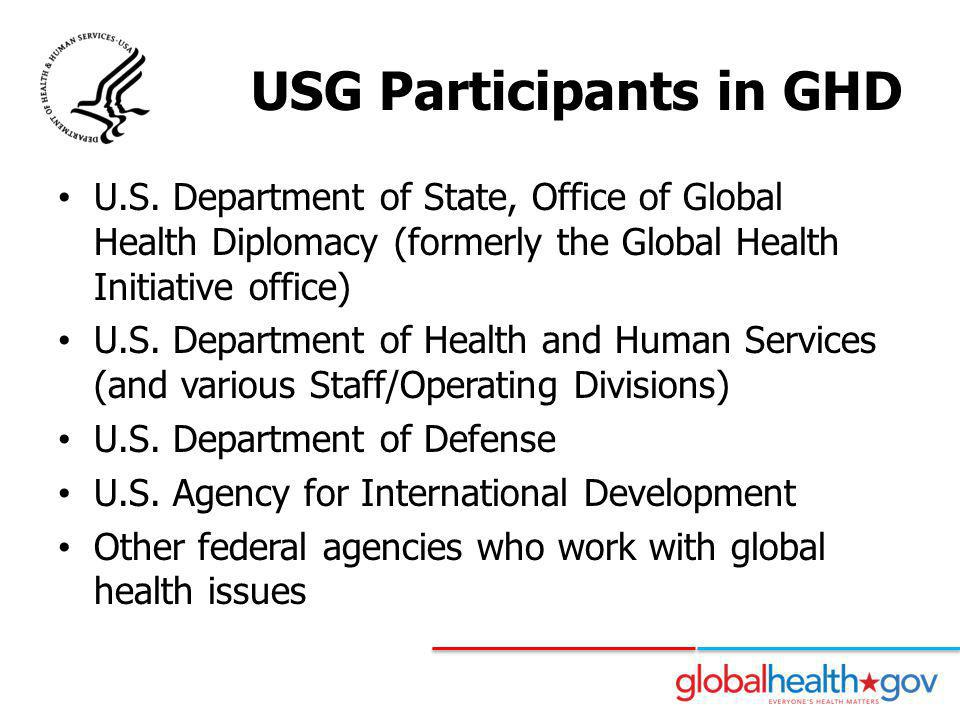 USG Participants in GHD