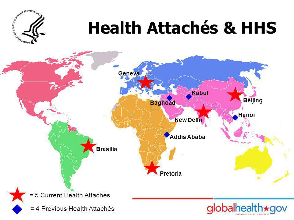 Health Attachés & HHS = 5 Current Health Attachés