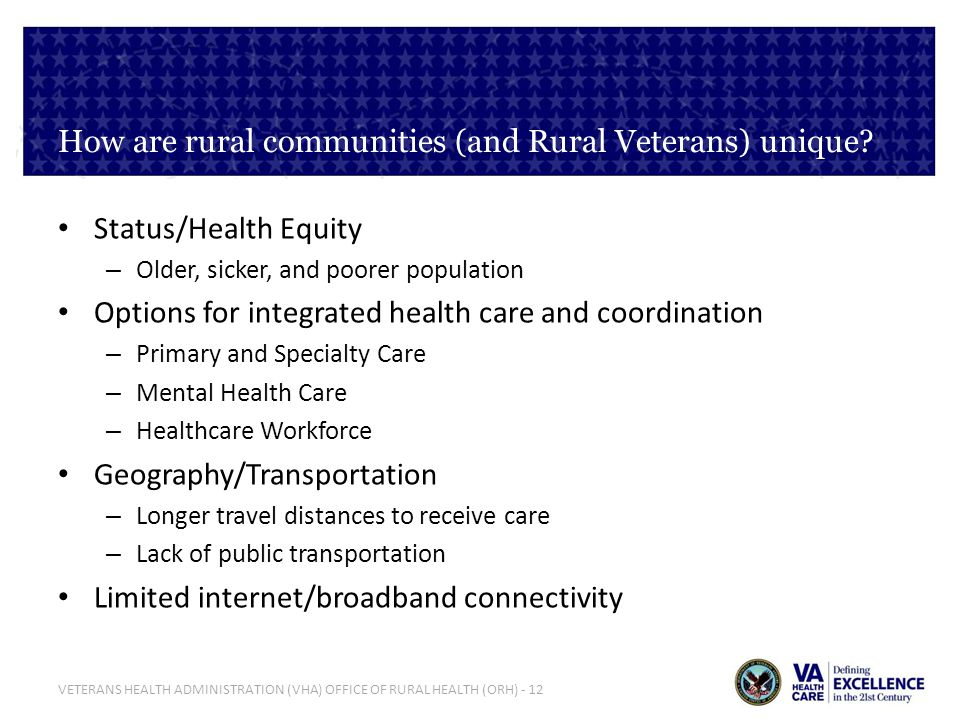 How are rural communities (and Rural Veterans) unique