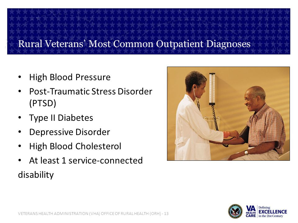 Rural Veterans' Most Common Outpatient Diagnoses
