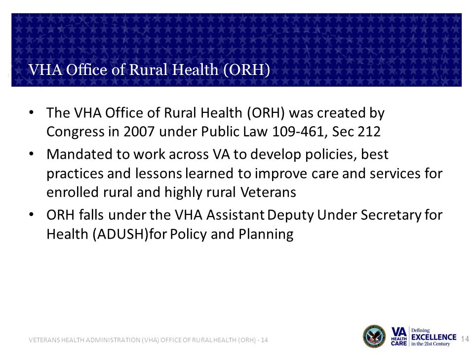 VHA Office of Rural Health (ORH)