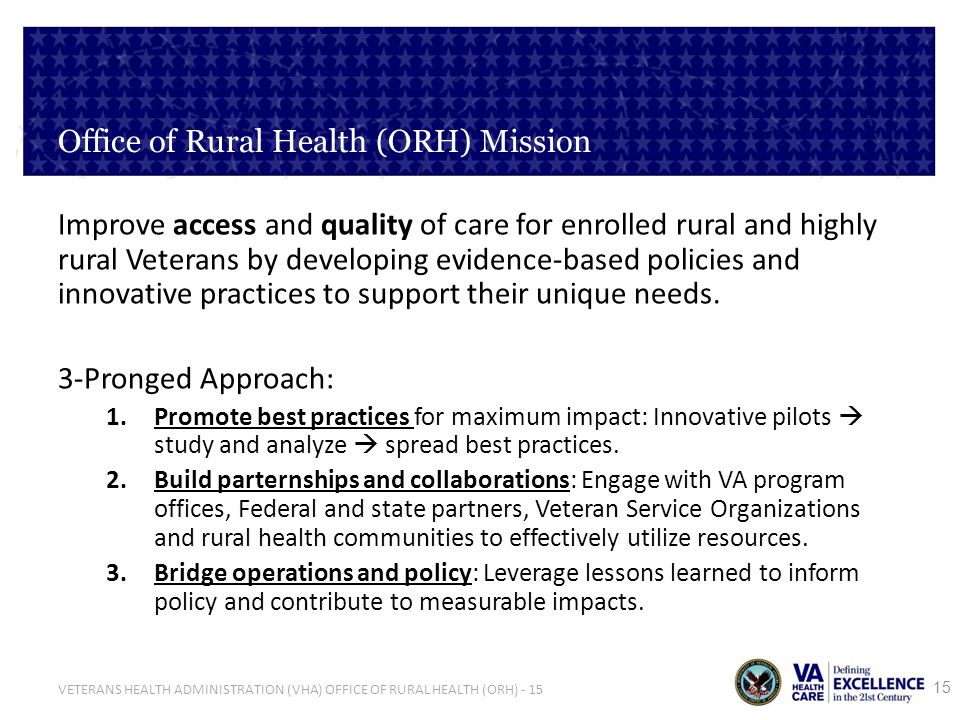 Office of Rural Health (ORH) Mission