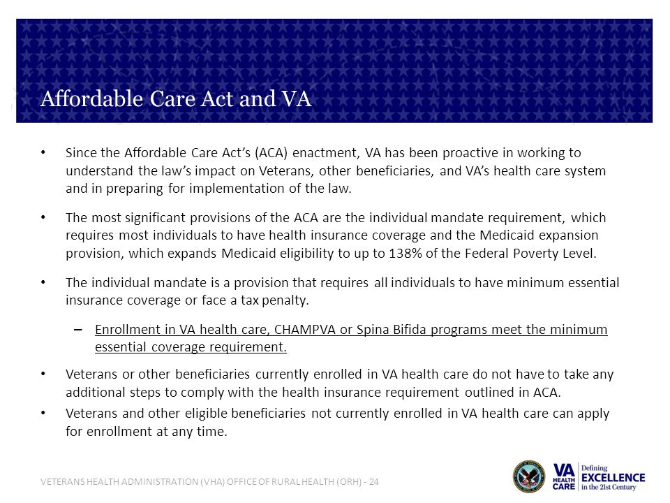 Affordable Care Act and VA