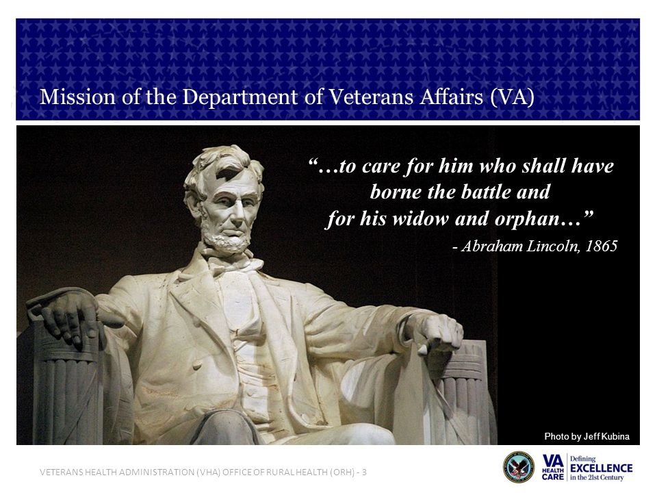 Mission of the Department of Veterans Affairs (VA)