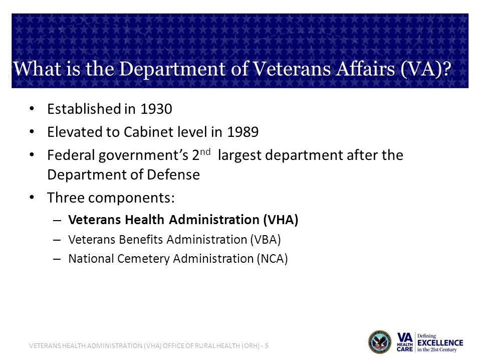 What is the Department of Veterans Affairs (VA)