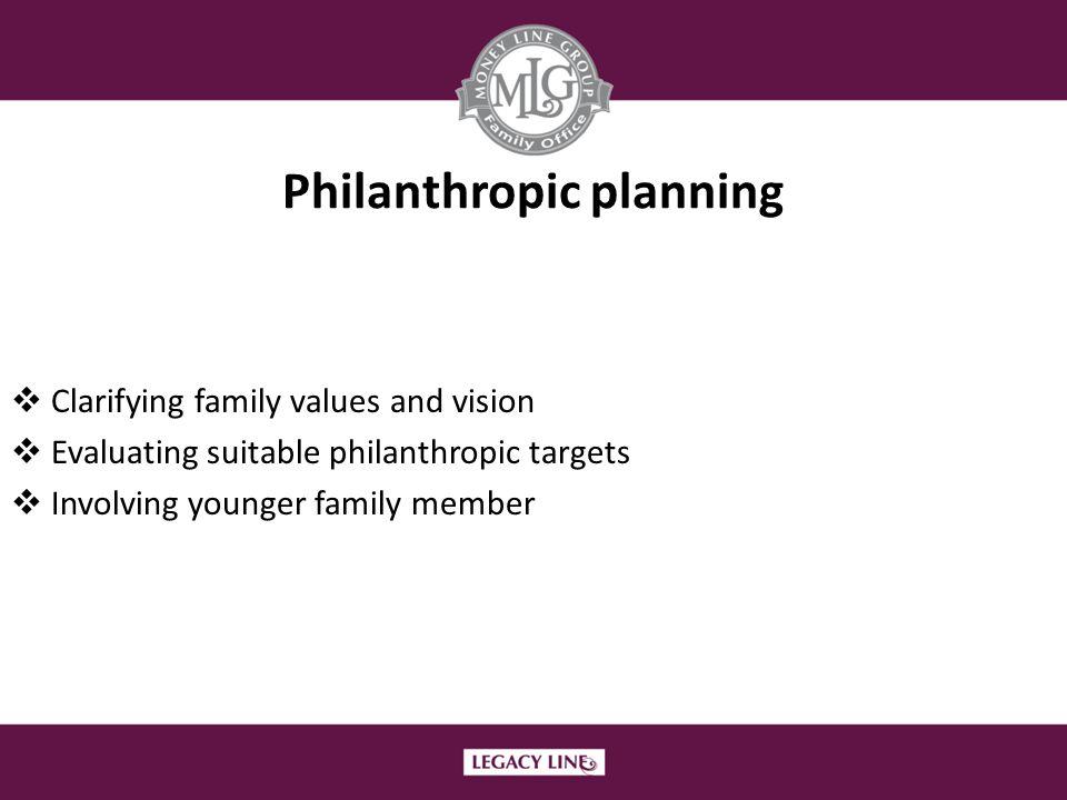 Philanthropic planning