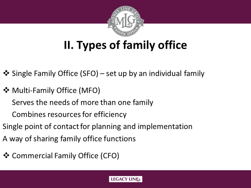 II. Types of family office