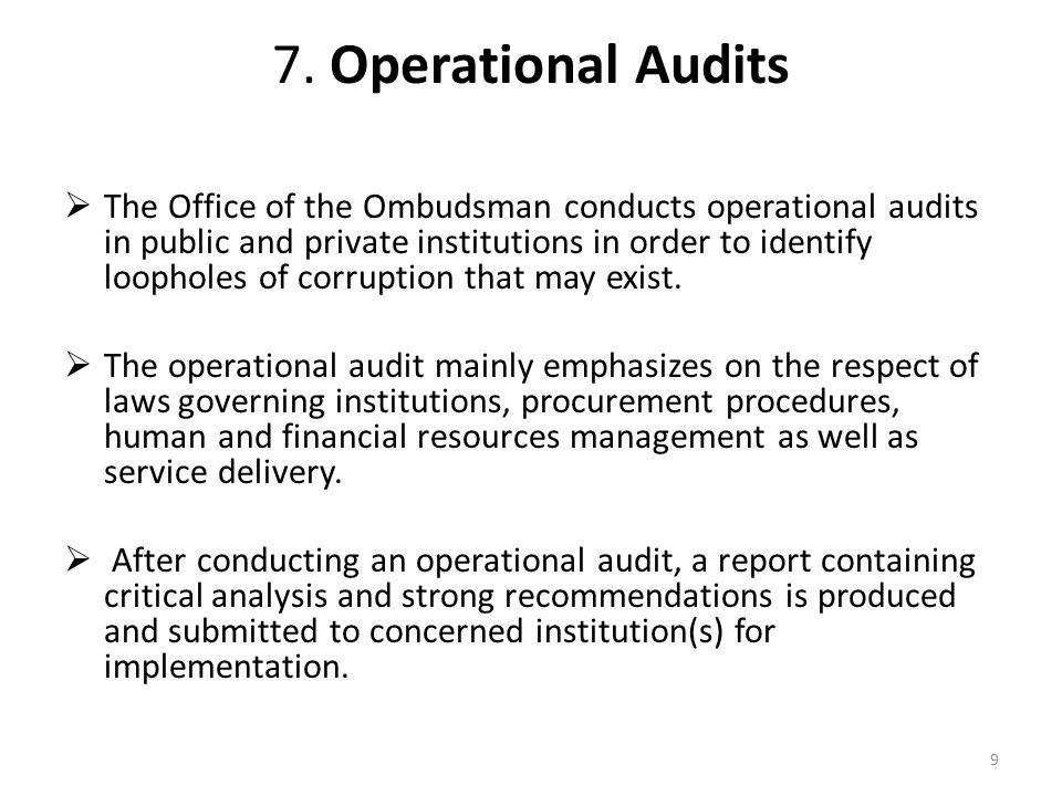 7. Operational Audits
