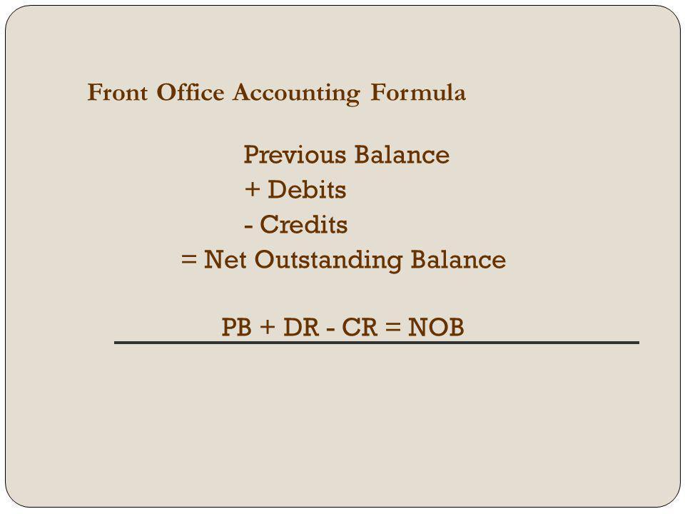 = Net Outstanding Balance