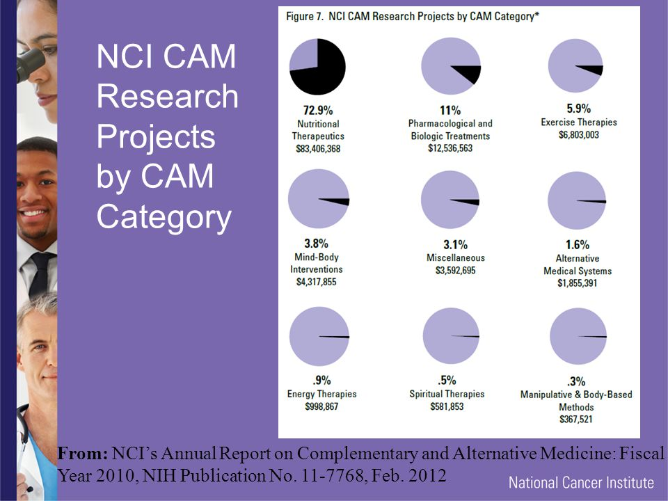 NCI CAM Research Projects by CAM Category