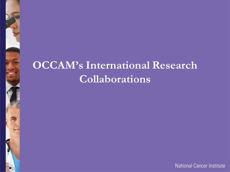 OCCAM's International Research Collaborations