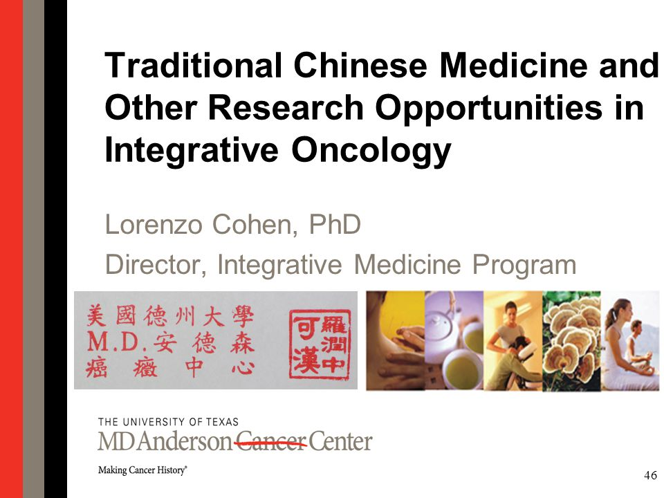 Traditional Chinese Medicine and Other Research Opportunities in Integrative Oncology
