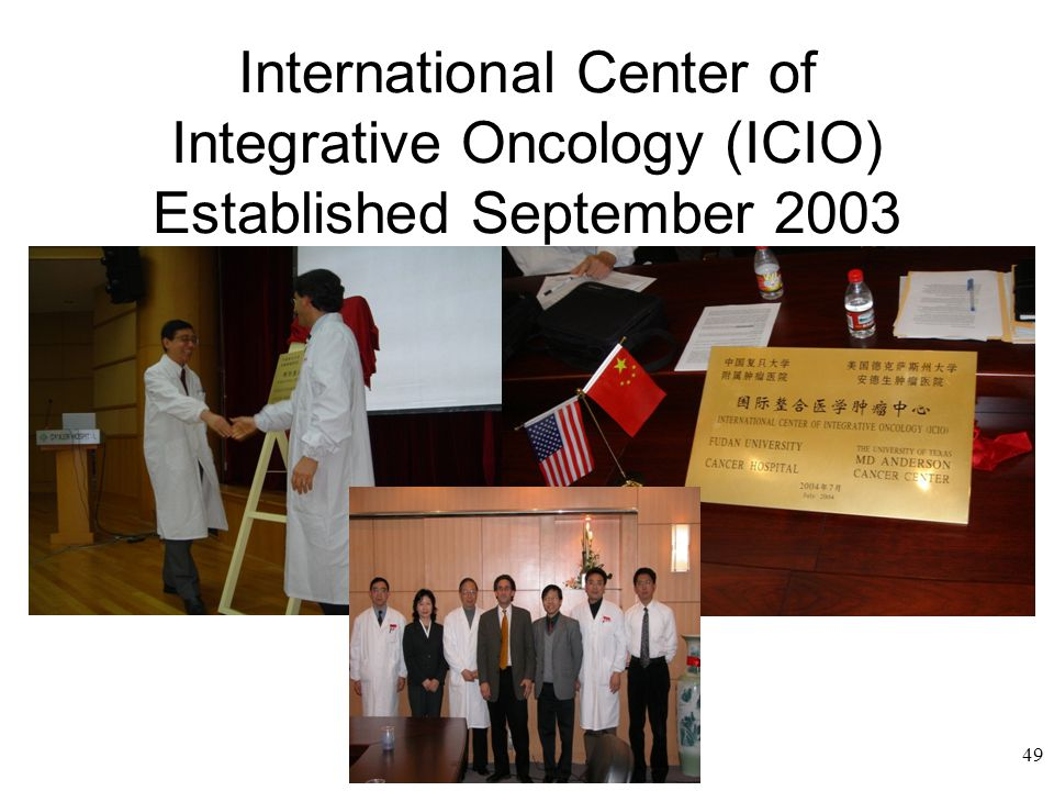 International Center of Integrative Oncology (ICIO) Established September 2003