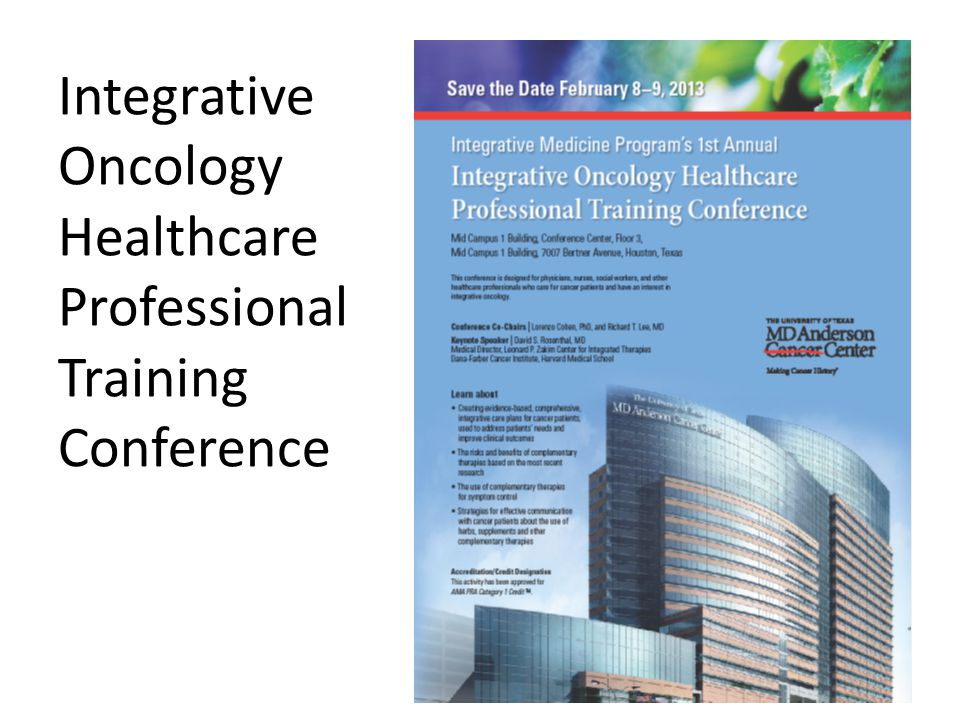 Integrative Oncology Healthcare Professional Training Conference