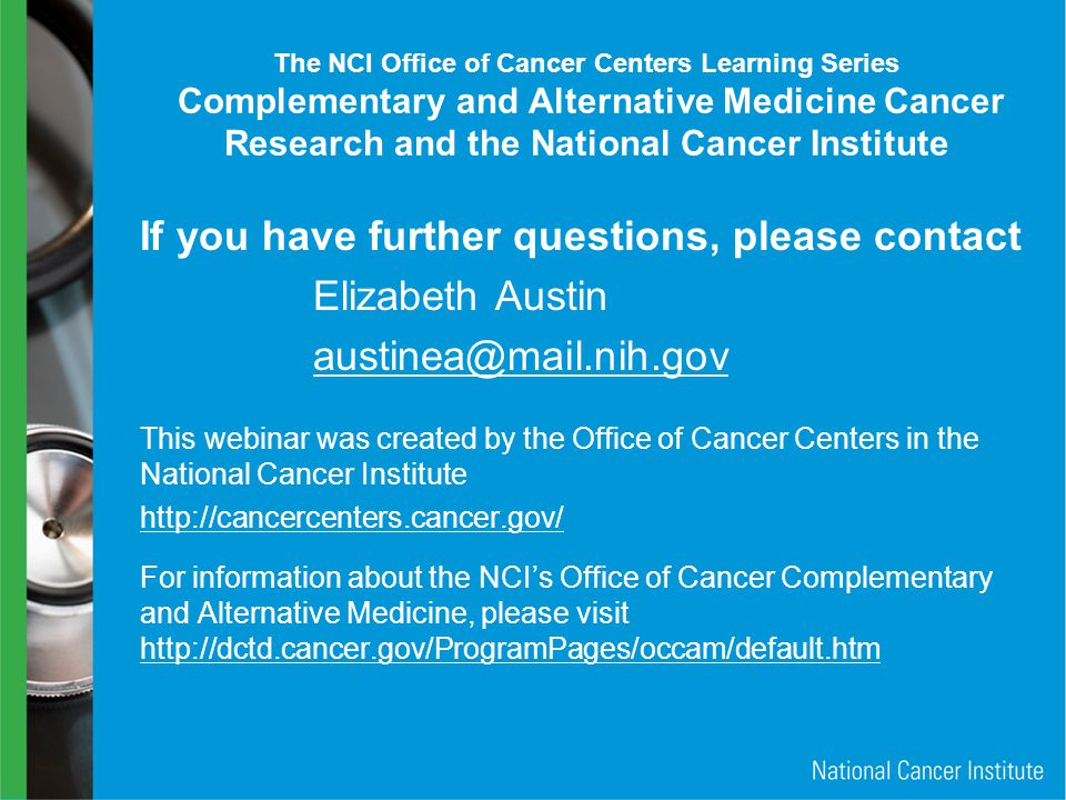 If you have further questions, please contact Elizabeth Austin
