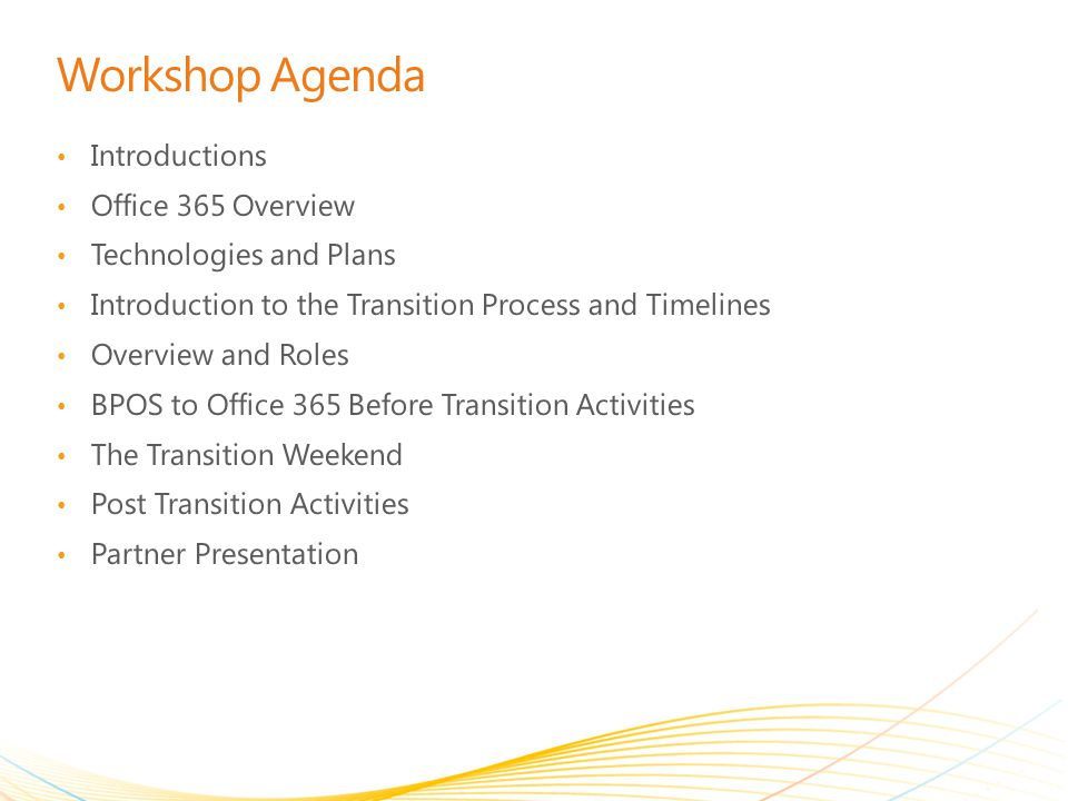 Workshop Agenda Introductions Office 365 Overview