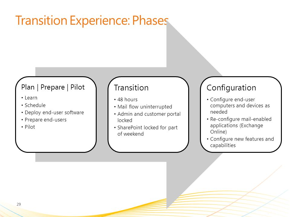 Transition Experience: Phases