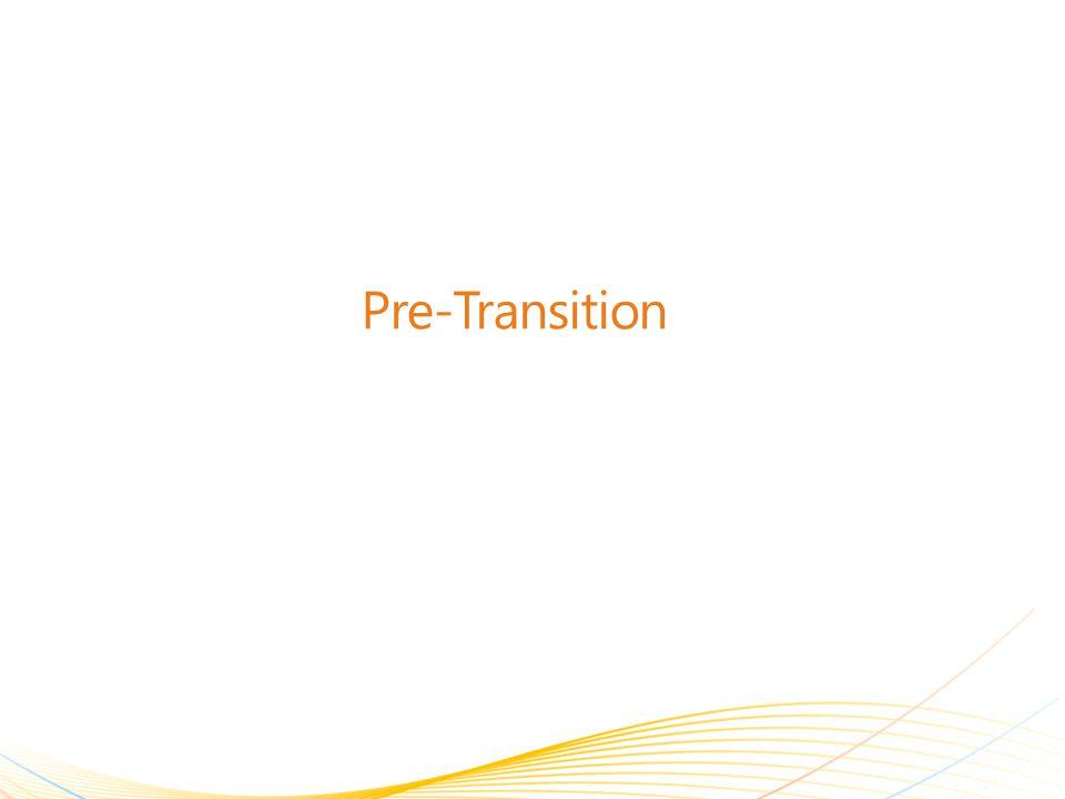 Pre-Transition