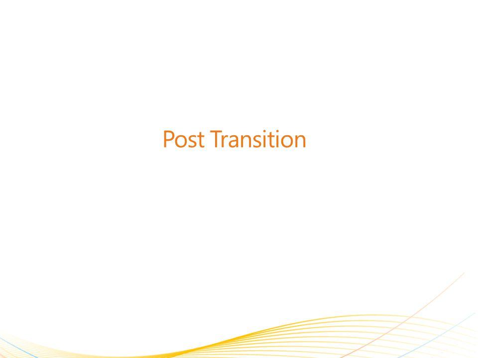 Post Transition