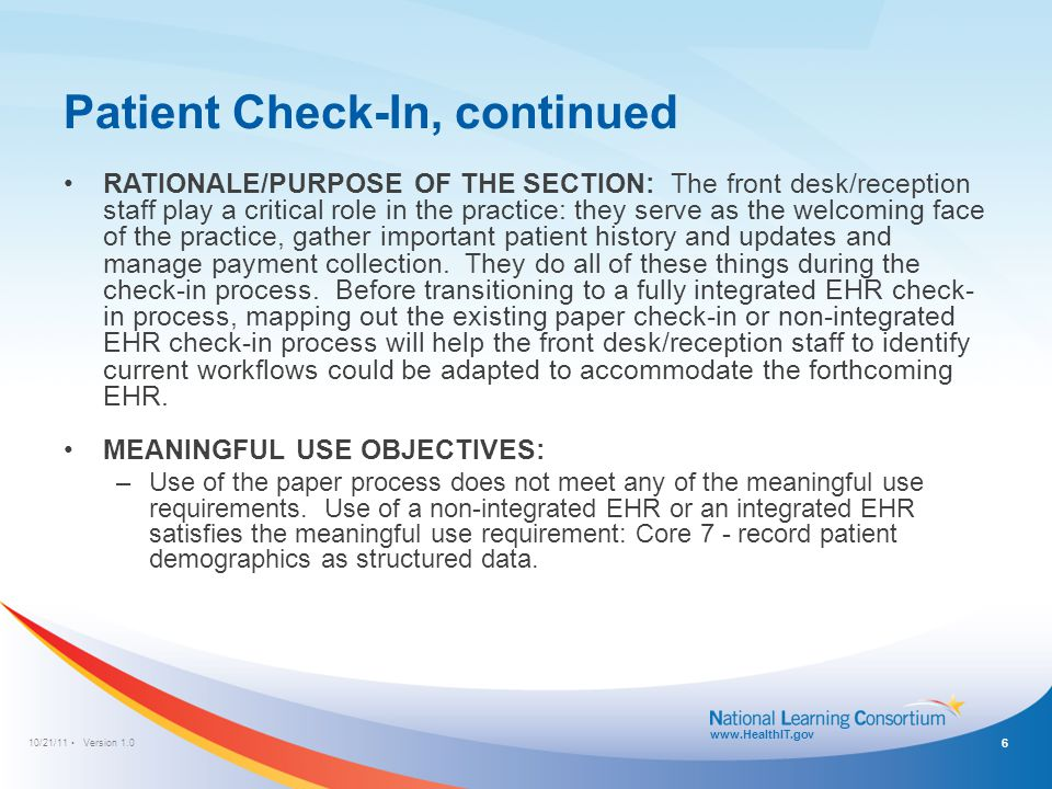 Patient Check-In Paper Process