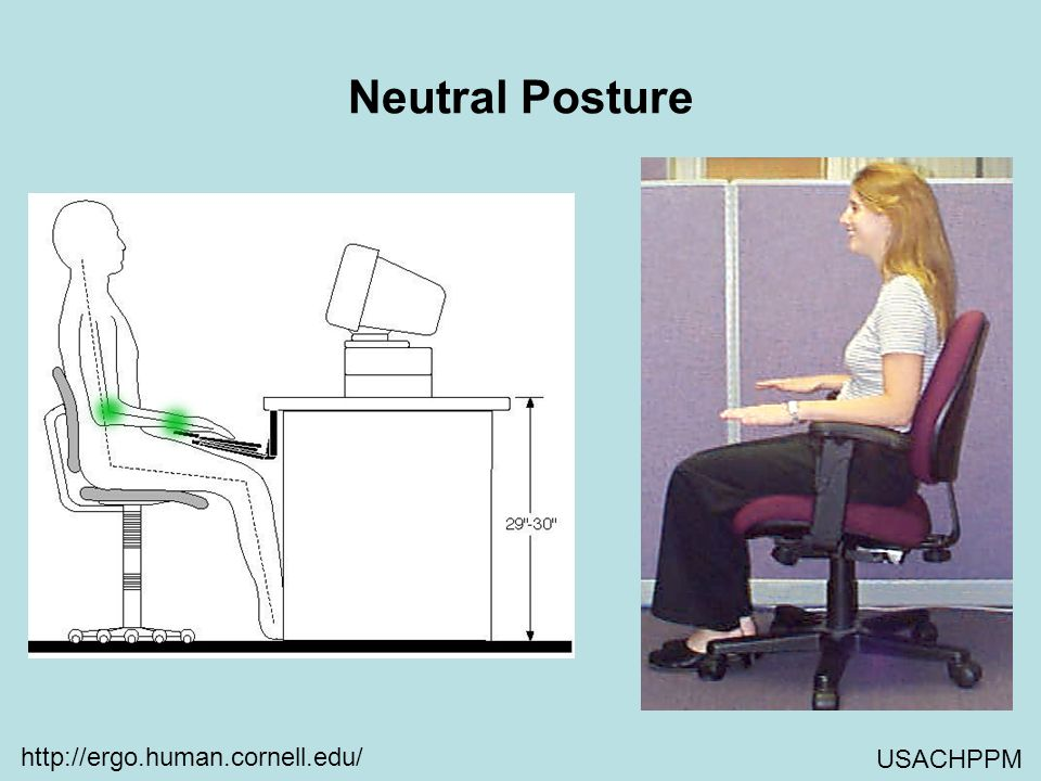 Neutral Posture http://ergo.human.cornell.edu/ USACHPPM