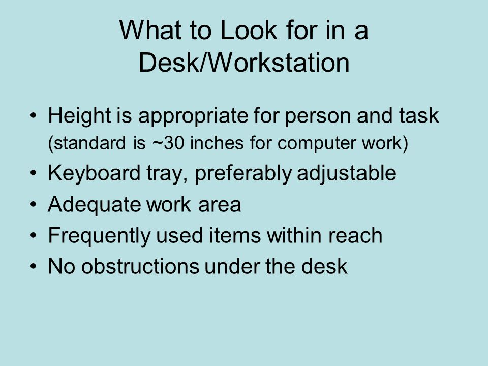 What to Look for in a Desk/Workstation